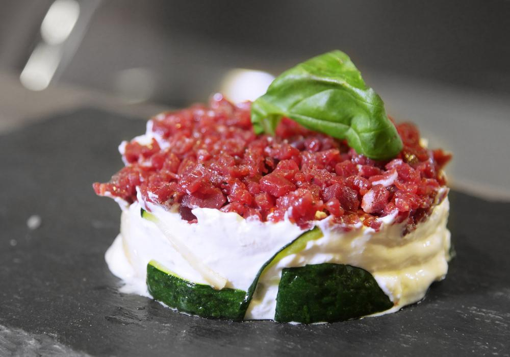Torretta di tartare all'italiana